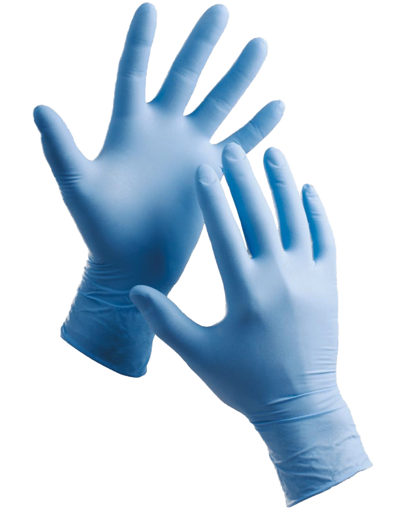 Latex Blue Surgical Hand Gloves